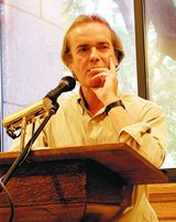 Martin Amis at Lecturn